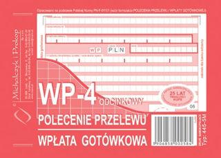 Obrazek DRUK 445-5 POLECENIE PRZELEWU WPŁATA GOTÓWKOWA 4-SKŁ