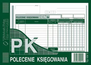 Obrazek DRUK 439-3 POLECENIE KSIĘGOWANIA POZIOME