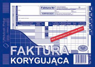 Obrazek DRUK 107-3E FAKTURA VAT KORYGUJĄCA