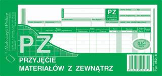 Obrazek DRUK 352-8 PZ PRZYJĘCIE MATERIAŁÓW Z ZEWNĄTRZ 1/3 A4