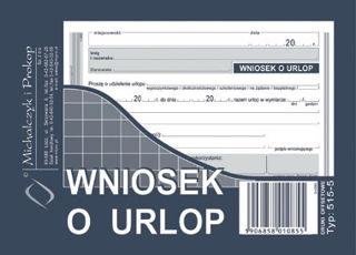 Obrazek DRUK 515-5 WNIOSEK O URLOP A6