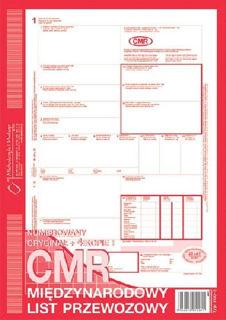 Obrazek DRUK 800-2 CMR MIĘDZYNARODOWY LIST PRZEWOZOWY
