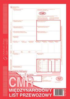Obrazek DRUK 800-3 CMR MIĘDZYNARODOWY LIST PRZEWOZOWY