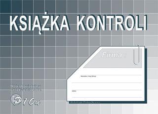 Obrazek DRUK P10U KSIĄŻKA KONTROLI