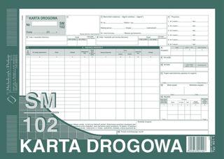 Obrazek DRUK 801-1N KARTA DROGOWA SM/0102 NUMEROWANA (SAMOCHÓD CIĘŻAROWY)